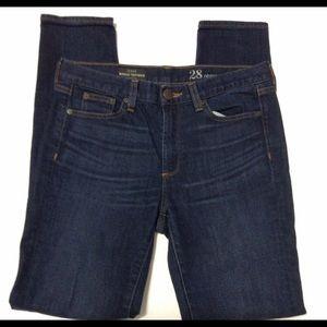 J. Crew Toothpick Midrise Jeans 28R